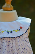 POLKA DOTTED DUCK N BUTTERFLY DRESS