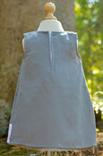 GREY DRESS WITH PLAIN WHITE V NECK