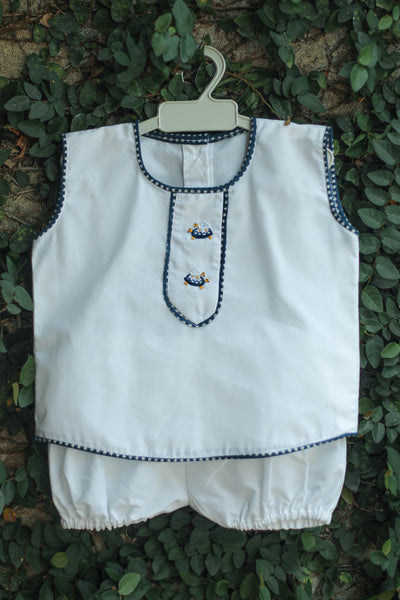 EMBROIDERED TORTOISES BOYS SUIT