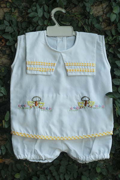 EMBROIDERED LITTLE DUCKS BOYS SUIT