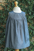 BUTTON UP DODGER BLUE COTTON DRESS