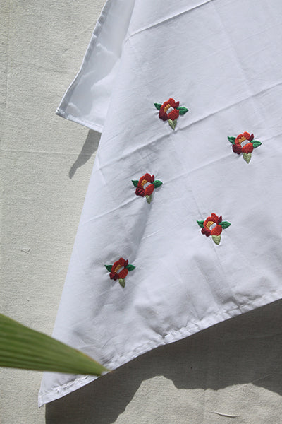 Red Rose Cotton Sheet