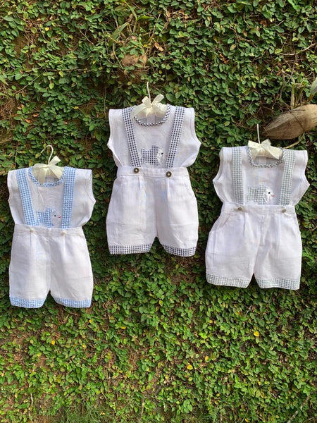 Adorable Little Friends - Romper Sets in Gingham
