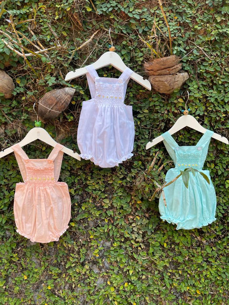 Cotton Summer Rompers n Pastel Shades