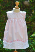 PINK FABRIC LAISY DAISY BORDER DRESS