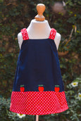 STRAWBERRY CHARM RED N BLUE DRESS