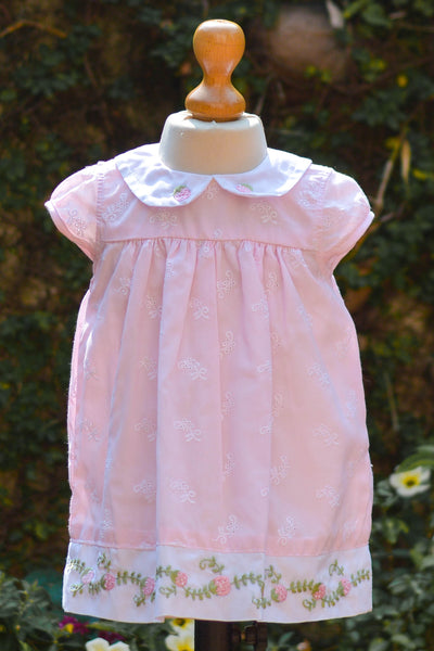 BABY PINK STRAWBERRY FABRIC DRESS