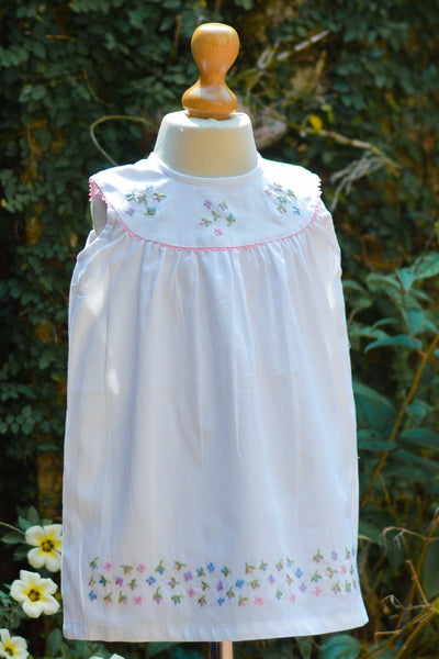 FLOWERY SHOWER EMBROIDERED DRESS