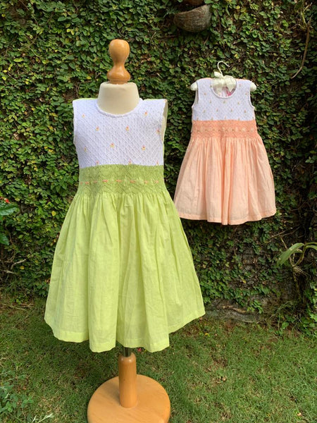 delicate smocking dress