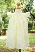 Hakoba Fabric Bishop Smock Dress