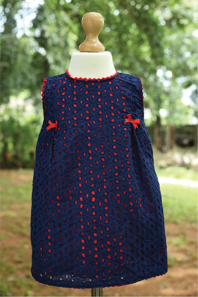 Blue N Red Hakoba Dress
