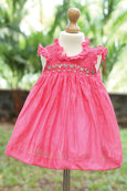 Colorful Hand Smocked Patterns Frock