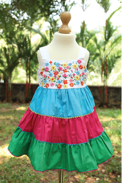 Multi Coloured Dress with Assorted Flowers