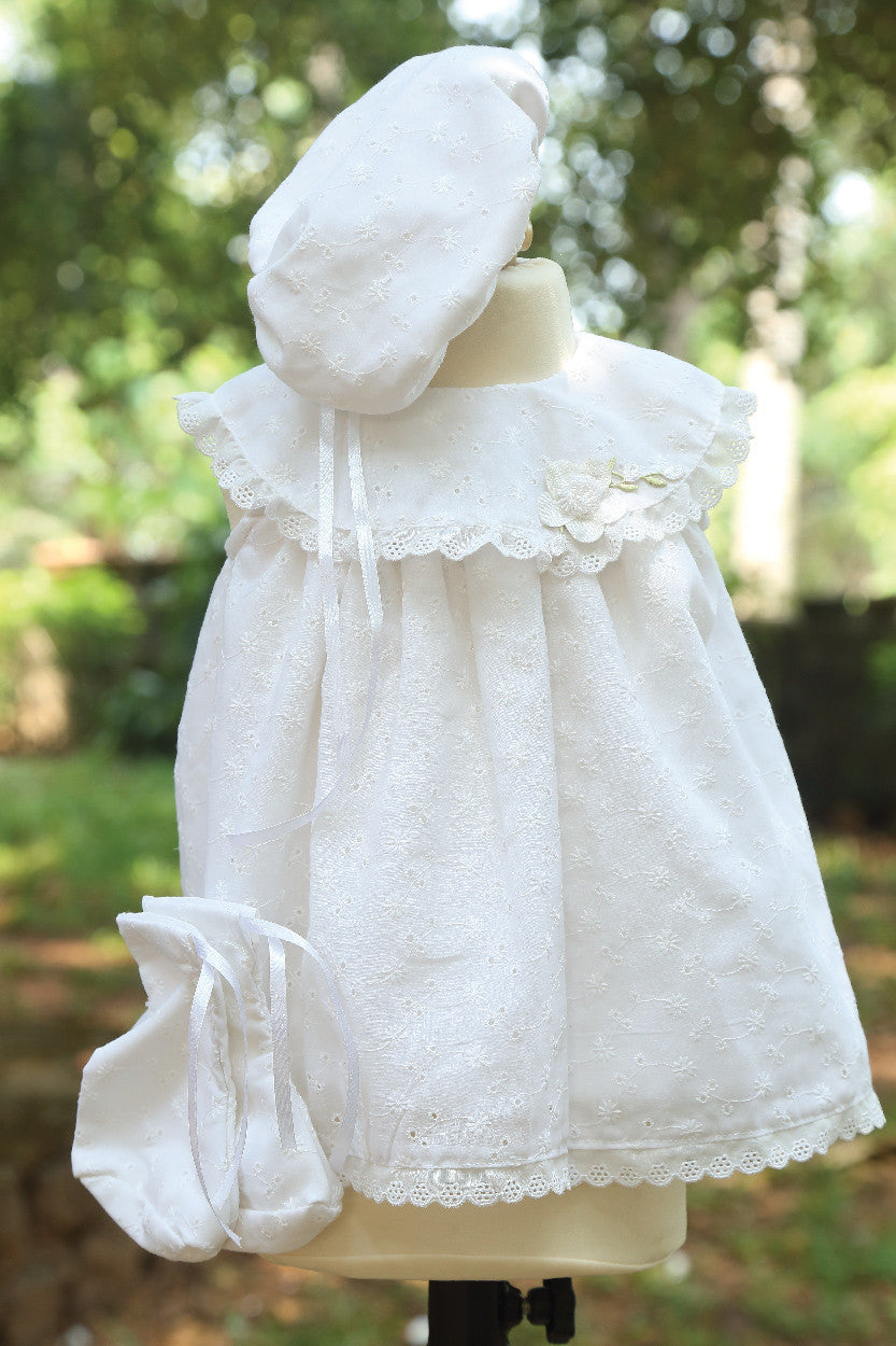 Embroidered Baptism Dress