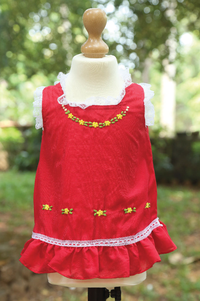 Open Shoulder Hand Embroidered Dress