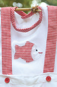 Adorable Little Friends - Romper Sets in Red Gingham