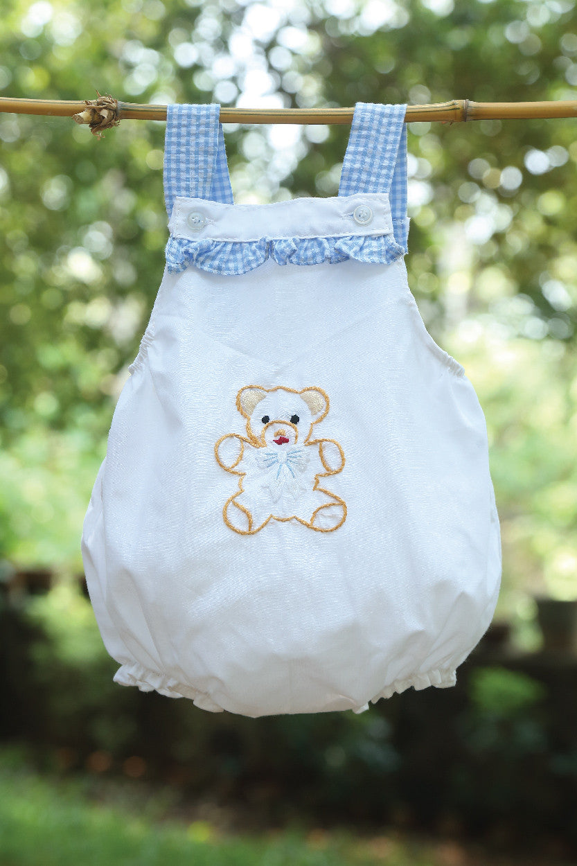 Bubble Romper with Teddy Bear