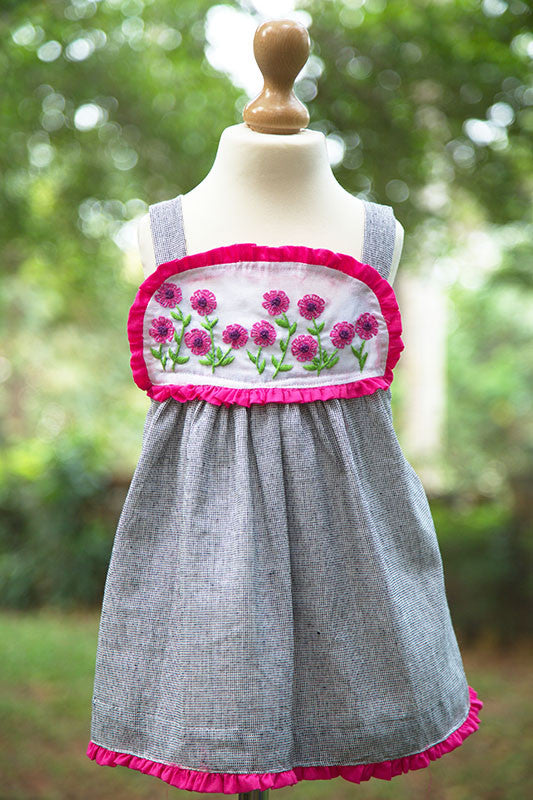 Strappy Frock with Embroidered Yoke