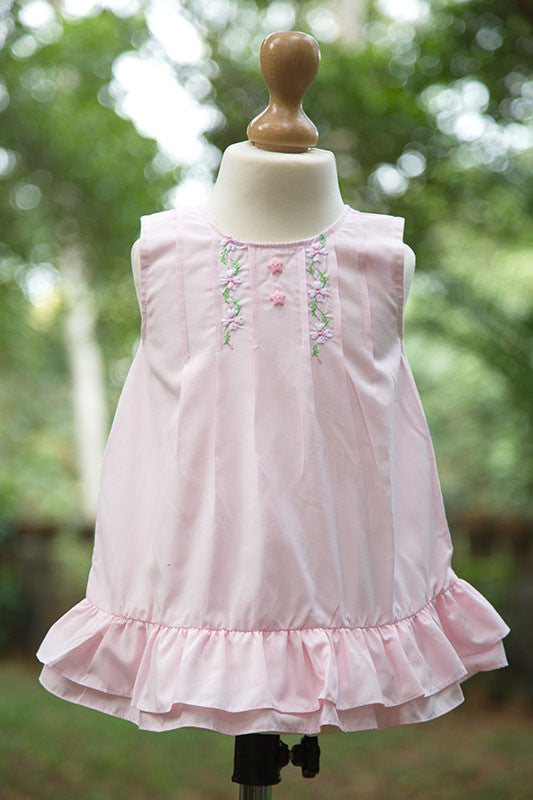Baby Pink Sleeveless Frock