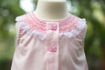 Baby Pink Dress with Butterfly Buttons