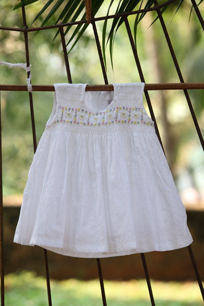 Simple Smock White Dress
