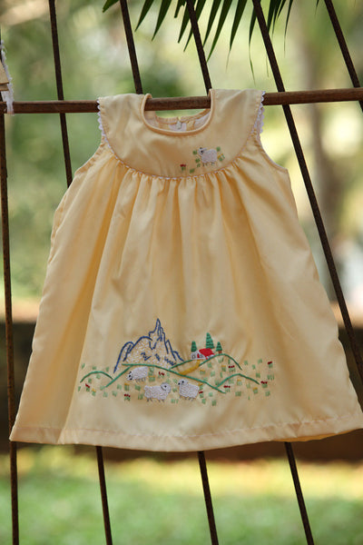 Custard Yellow Farm Girl dress