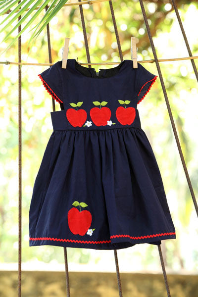 An Appliqued Apple Dress