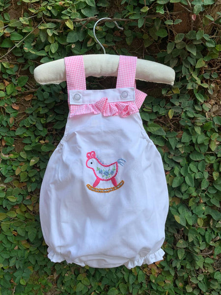 hand embroidered baby romper