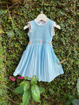hand smocked cotton fairy dress