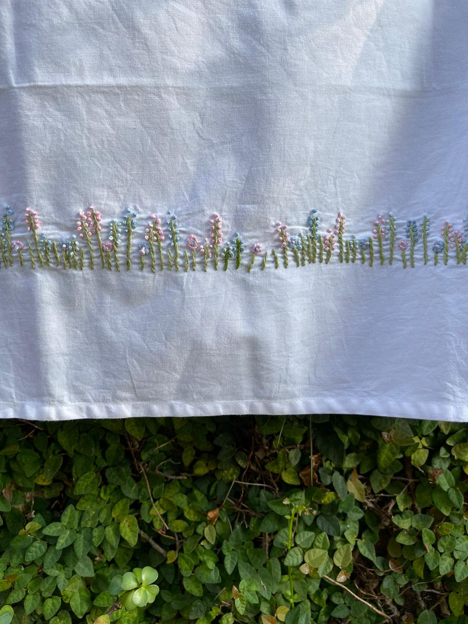 fence of flowers cotton sheet