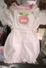 Baby Pink Apple Dungarees Set