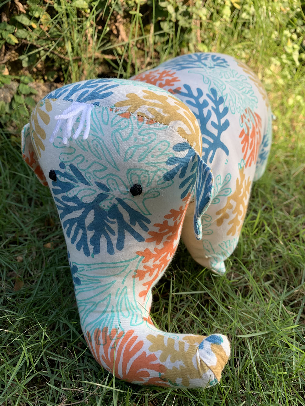 Coral Reef - Elephant Pillow Toy