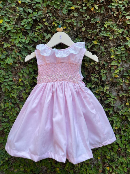 girls frill smock dress