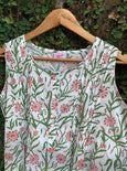 Floral Garden - Cotton Hand Block Print Nighty