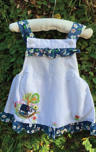 Pinafore Button Strap - Country Cottage