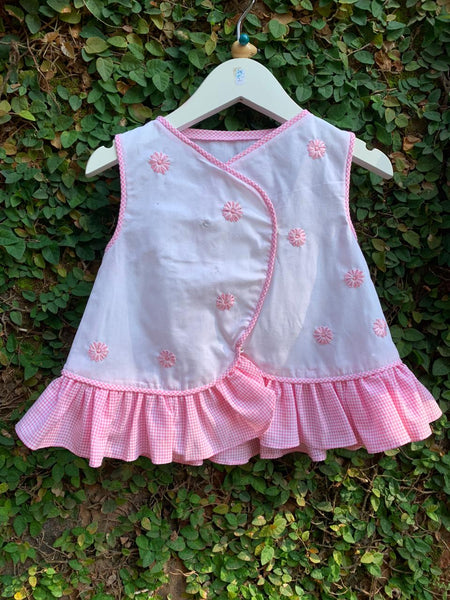 pink gingham pinnies set