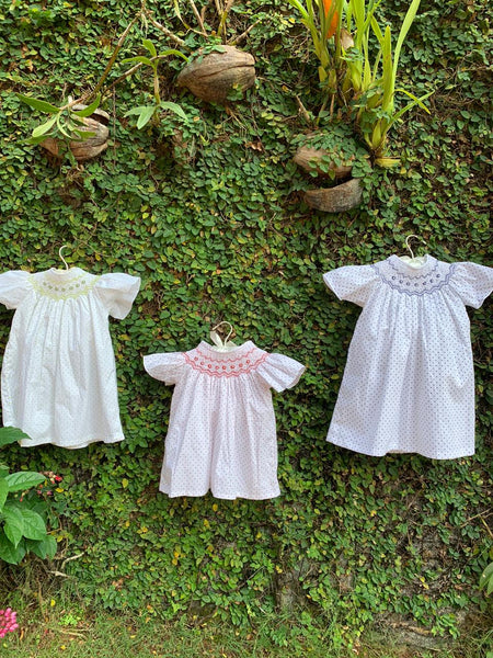 polka cotton baby dress