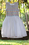 White Good Day Smock Dress