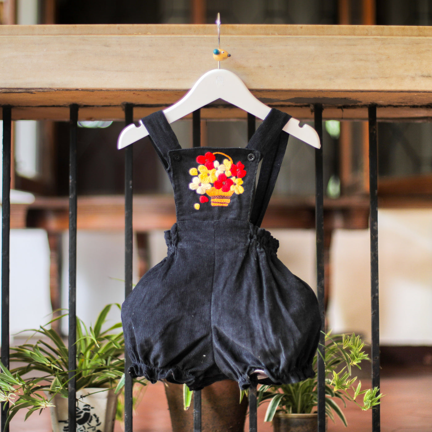bounty of flowers corduroy romper