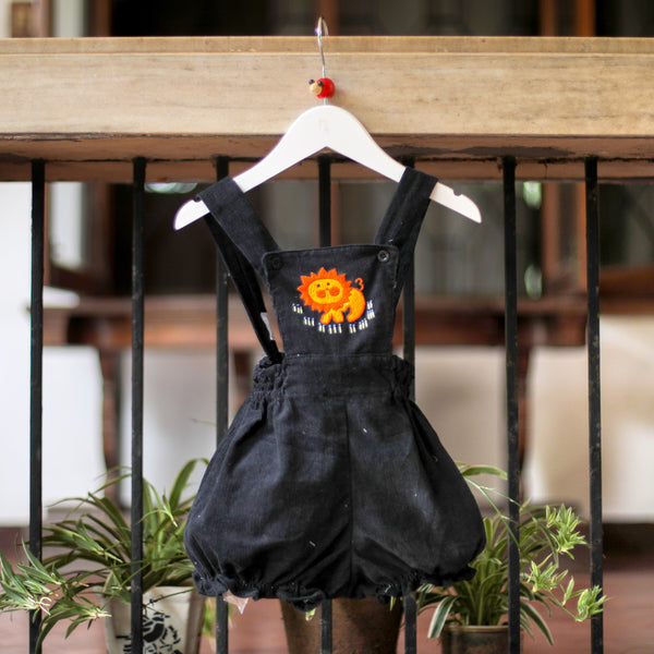 hand embroidered corduroy romper