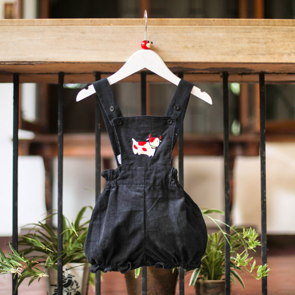 happy cow corduroy romper