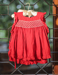 cherry red party wear dress
