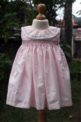 Pink Colour Dress with Smocked Yoke