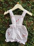 hand embroidered white rompers