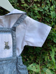Cute Explorers - Farm Theme Romper Sets Blue Grey whiskers
