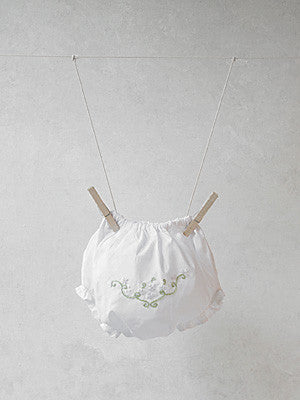 White Daisies Embroidered Panties