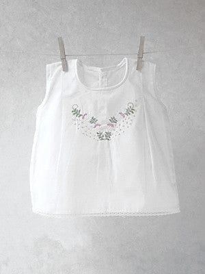 Floral Scroll Darted Top