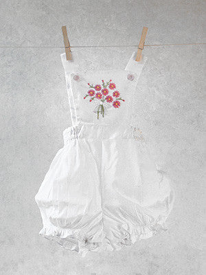 Pink Poppies Classic Dungarees