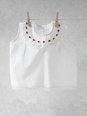 Red Roses Drop Collar Top