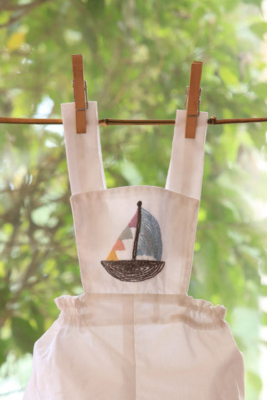 Sailor's Ship White Romper